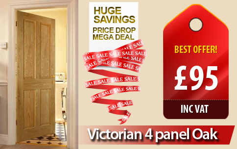 Internal Doors On Offer Victorian 4 Panel Oak Special Deal