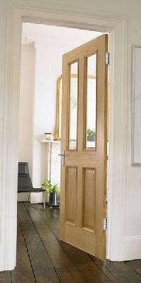 4 Panel Oak 2 Light Glazed Interior Door