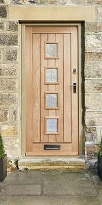 & External Dordogne Oak Glazed Door