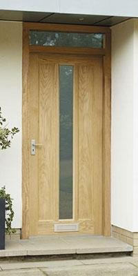 & External Worcester Oak Glazed Door