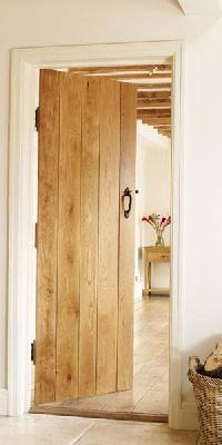 Solid Oak Ledged Hardwood Internal Door